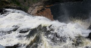 Sainte-Anne cade in serie di Sainte-Anne del canyon (Quebec, Canada) (22 di 23) Immagine Stock