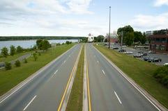 Sainte Anne& x27; Dr. do ponto de s - Fredericton - Canadá fotografia de stock