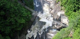 Sainte-Anne Falls in Canyon Sainte-Anne (Quebec, Canada) series (16 of 23) Stock Photo
