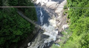 Sainte-Anne Falls in Canyon Sainte-Anne (Quebec, Canada) series (5 of 23) Stock Photos