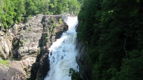 Sainte-Anne Falls in Canyon Sainte-Anne (Quebec, Canada) series (13 of 23) Royalty Free Stock Photos