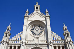 Sainte Catherine Church in Brussels Stock Photos