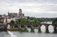 Sainte-Cecile Cathedral of Albi and cityscape of Albi France Royalty Free Stock Images
