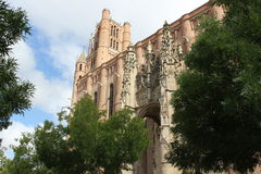 Sainte Cecile Cathedral, Albi. Cathedral in the historic city of Albi Stock Photos