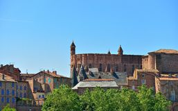 Sainte Cecile Cathedral and palais de la Berbie, Albi Stock Photos