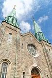 Sainte Cecile Church in Montreal. Facade of Sainte Cecile Church in Montreal on a cloudy day Stock Photography