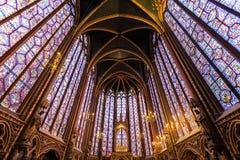 Sainte Chapelle在巴黎 免版税库存照片