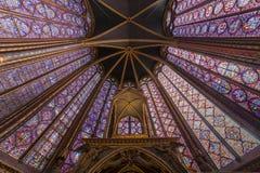 Sainte Chapelle教会,巴黎,法国 库存照片
