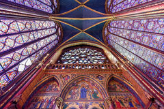 Sainte-Chapelle - Παρίσι, Γαλλία Στοκ εικόνα με δικαίωμα ελεύθερης χρήσης