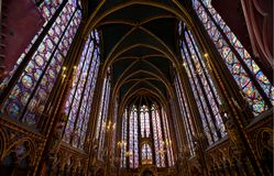 Sainte Chapelle στο Παρίσι Γαλλία Στοκ φωτογραφία με δικαίωμα ελεύθερης χρήσης