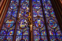 Sainte Chapelle цветное стекло стоковое изображение rf