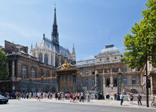 Sainte Chapelle Church Paris Stock Photos