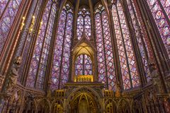 Sainte Chapelle church,  Paris, France Stock Photo