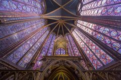 Sainte Chapelle church,  Paris, France Royalty Free Stock Image