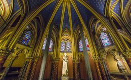 Sainte Chapelle church,  Paris, France Stock Photography