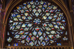 The Sainte Chapelle church, Paris, France Stock Images