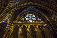 The Sainte Chapelle church, Paris, France Stock Photography