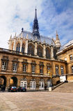Sainte-Chapelle en Palais DE Justice Royalty-vrije Stock Afbeeldingen