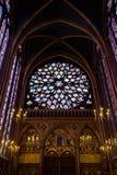 Sainte-Chapelle (heilige Kapelle) in Paris lizenzfreie stockbilder