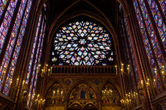 Sainte-Chapelle (heilige Kapelle) in Paris stockfotos