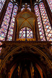 Sainte-Chapelle (Holy Chapel) in Paris Stock Photos