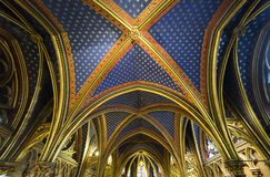 Sainte Chapelle, ile de la cite, Paris, France Stock Images