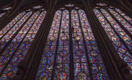 Sainte Chapelle, ile de la cite, Paris, France Royalty Free Stock Photography