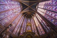 Sainte Chapelle, ile de la cite, Paris, France Stock Photos