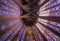 Sainte Chapelle, ile de la cite, Paris, France Stock Image