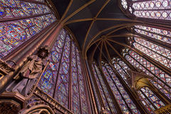 Sainte Chapelle. Interiors and architectural details of the Sainte Chapelle, built in 1239 Royalty Free Stock Photography