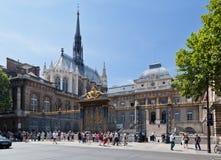 Sainte Chapelle Kirche Paris Stockfotos