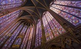Sainte Chapelle, la de del ile cita, París, Francia Fotografía de archivo libre de regalías