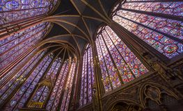 Sainte Chapelle, la do de do ile menciona, Paris, França Fotografia de Stock Royalty Free