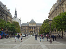 Sainte-Chapelle and Palais de Justice Royalty Free Stock Photo