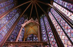 Sainte Chapelle, Parijs stock foto's