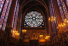 Sainte Chapelle Parijs Stock Foto's