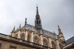 Sainte Chapelle in Parijs, Frankrijk stock foto's
