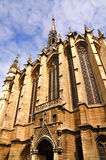 Sainte-Chapelle in Paris. The outside of the famous chapel Sainte-Chapelle in Paris, France Stock Photo