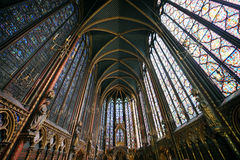 Sainte Chapelle in Paris. France Royalty Free Stock Images