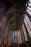Sainte Chapelle in Paris Stockfotos