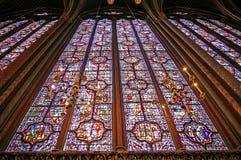 Sainte chapelle paris. Sainte capelle's glasses. Paris Stock Photography