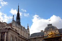 Sainte Chapelle in Paris Royalty Free Stock Photos