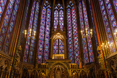Sainte Chapelle in Paris, France. Stock Photos