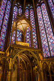 Sainte Chapelle in Paris, France. Stock Images