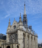 Sainte-Chapelle in Paris, France. Spire of Sainte-Chapelle in Paris, France against blue sky Royalty Free Stock Photo