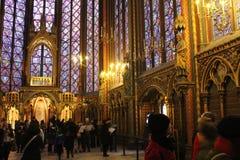 Sainte Chapelle, Paris - Interior Royalty Free Stock Images