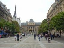Sainte-Chapelle und Palais de Justice Lizenzfreies Stockfoto