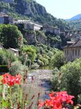 Sainte Claude. View of the picturesque town of Sainte Claude in the Haut Jura region of France Stock Photography