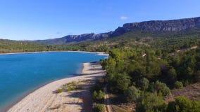 Sainte Croix湖的寄生虫视图 股票录像