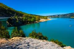 湖Sainte-Croix 库存图片